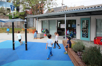 All classrooms have direct access to the outdoors in the new Maternelle.